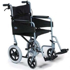 Days ESCAPE Lite Attendant Wheelchair – Silver Blue, Seat Width: Narrow 16″