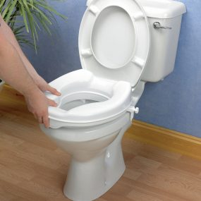 Savannah Raised Toilet Seat with Lid