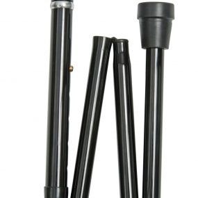 Extra Long Folding Derby Cane in Black
