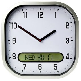 Lifemax Clear Time Wall Clock