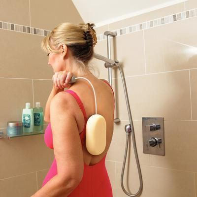 Bath Sponge with Flexible Handle