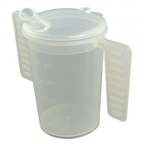 Feeding Beaker with two handles and lids